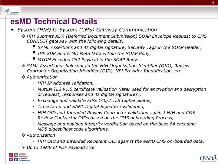 esMD Technical Details