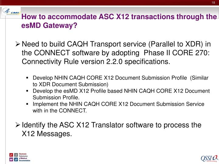 How to accommodate ASC X12 transactions