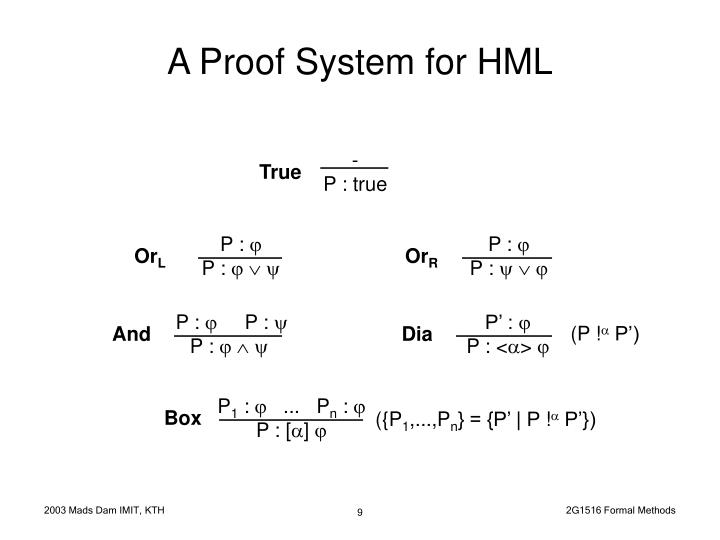 A Proof System for HML