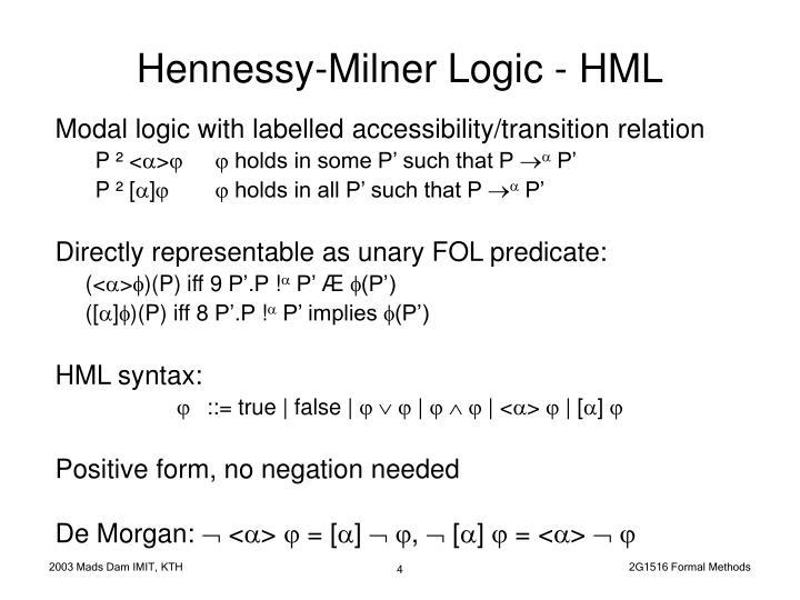 Hennessy-Milner Logic - HML