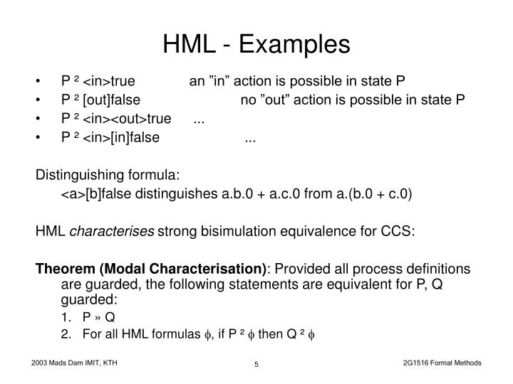 HML - Examples