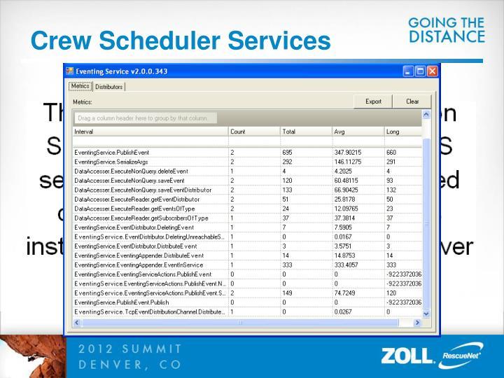 Crew Scheduler Services