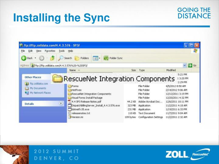 Installing the Sync