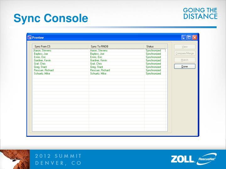Sync Console
