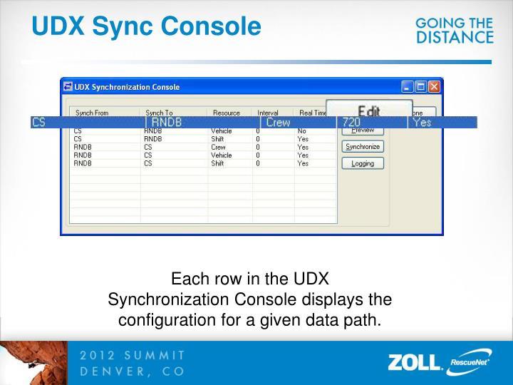 UDX Sync Console