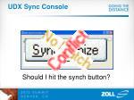 udx sync console3