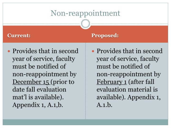 Non-reappointment