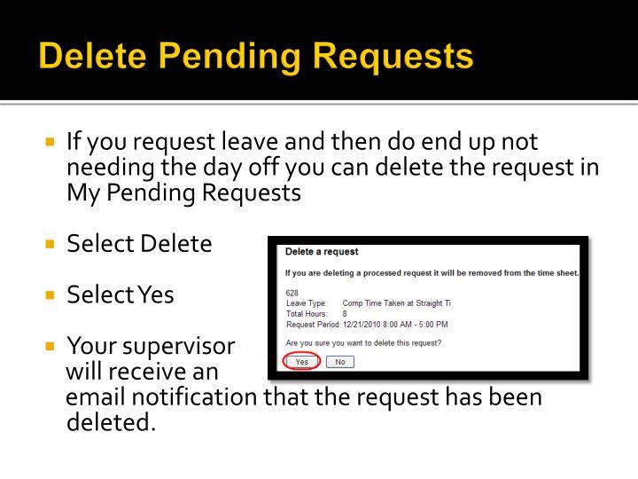 Delete Pending Requests