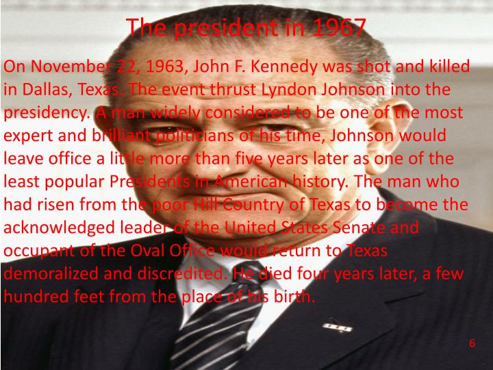 The president in 1967