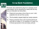 co op bank foundation