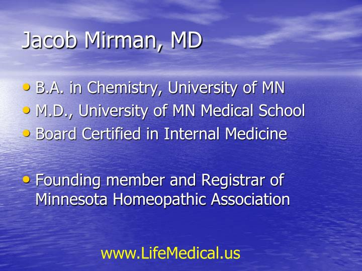 Jacob mirman md