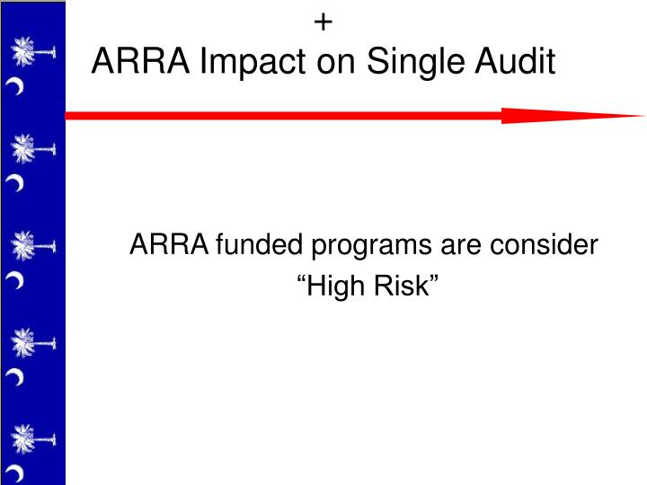 ARRA funded programs are consider