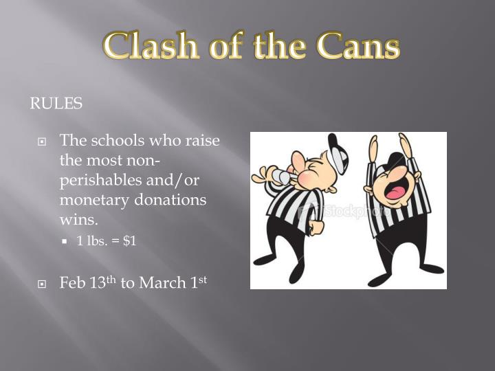 Clash of the Cans