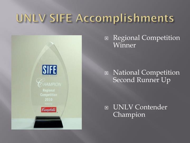 UNLV SIFE Accomplishments