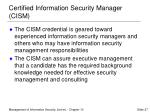 certified information security manager cism