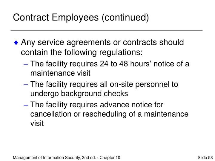 Contract Employees (continued)