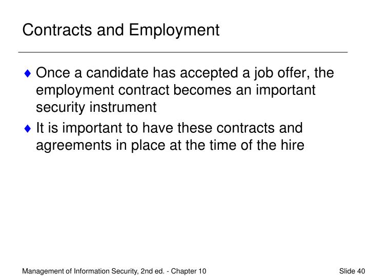 Contracts and Employment