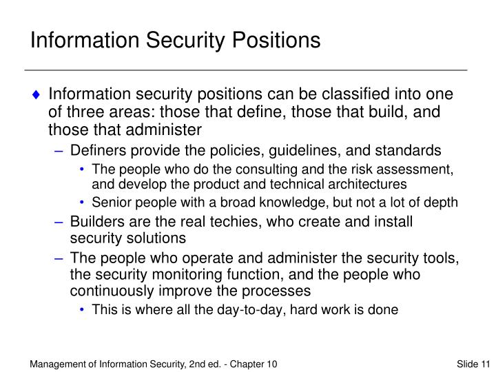 Information Security Positions