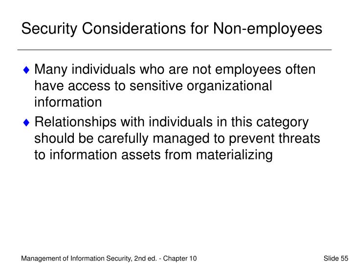 Security Considerations for Non-employees