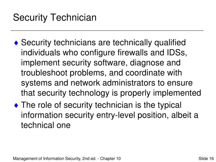 Security Technician