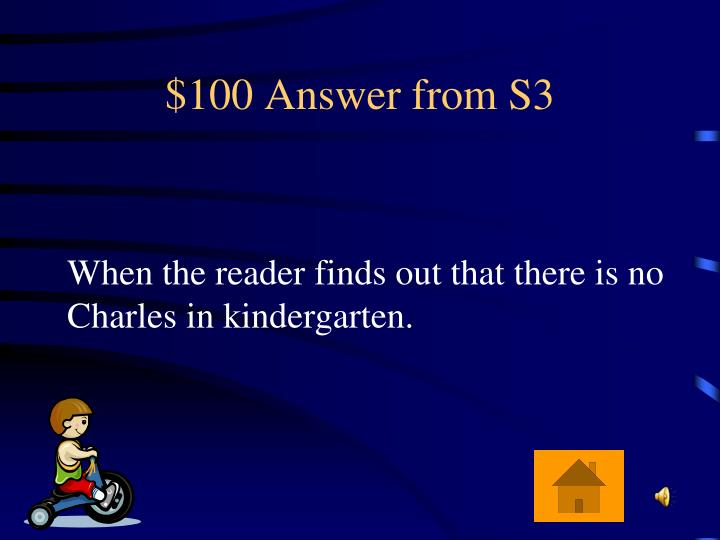 $100 Answer from S3