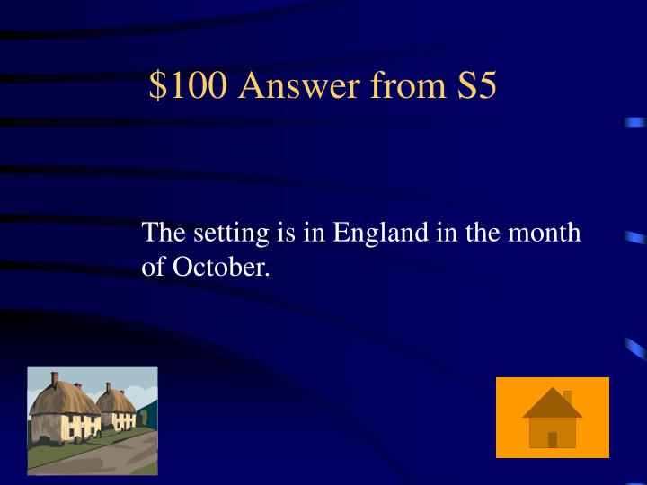 $100 Answer from S5