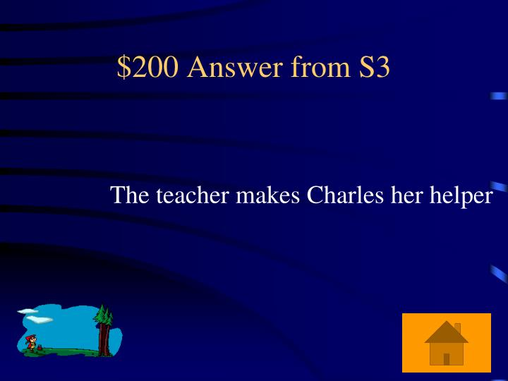 $200 Answer from S3