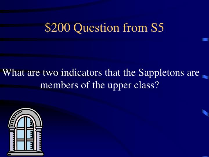 $200 Question from S5