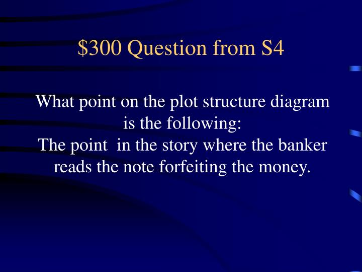 $300 Question from S4