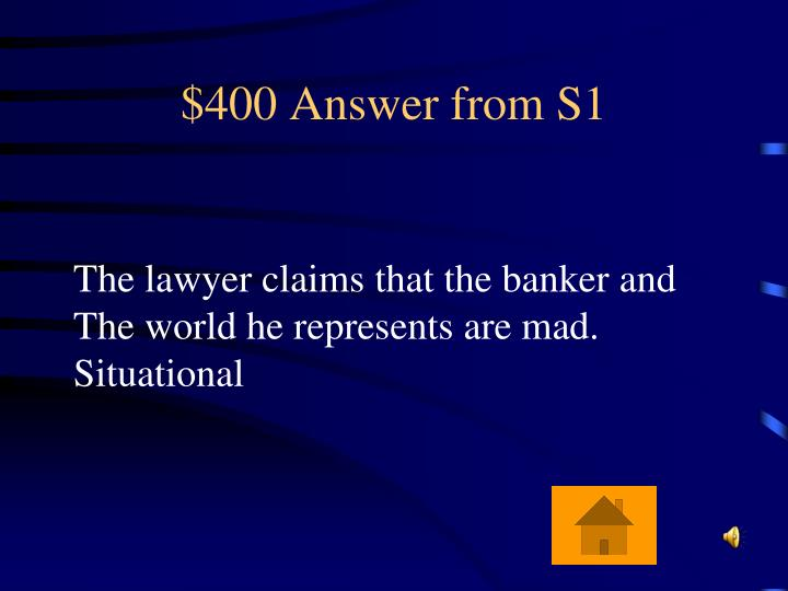 $400 Answer from S1