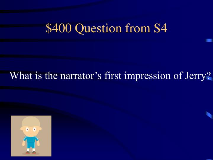 $400 Question from S4