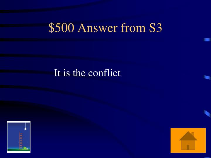 $500 Answer from S3