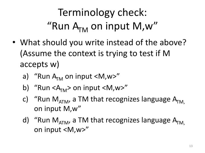 Terminology check: