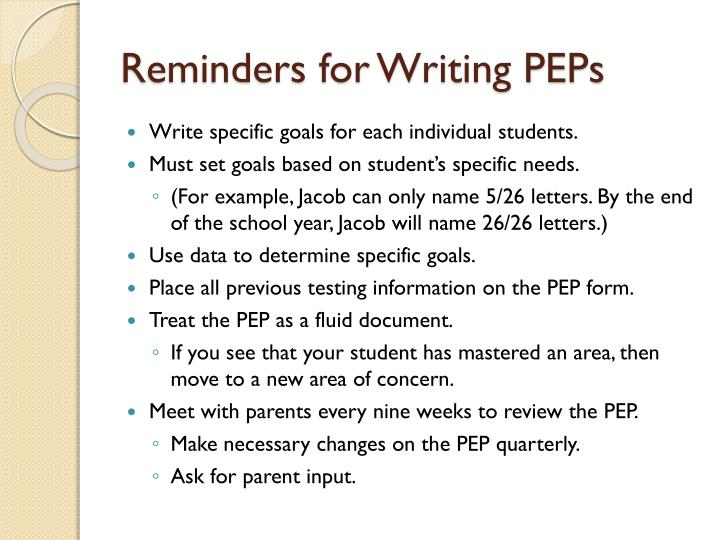 Reminders for Writing PEPs