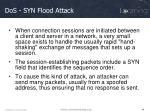 dos syn flood attack