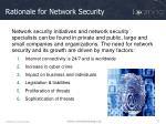 rationale for network security