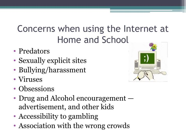 Concerns when using the Internet at Home and School