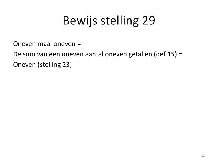 Bewijs stelling 29