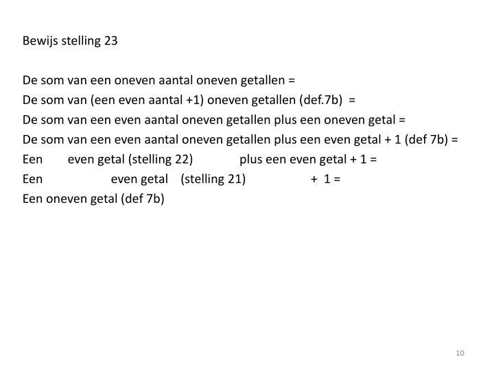Bewijs stelling 23