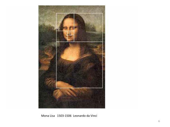 Mona Lisa   1503-1506  Leonardo da Vinci