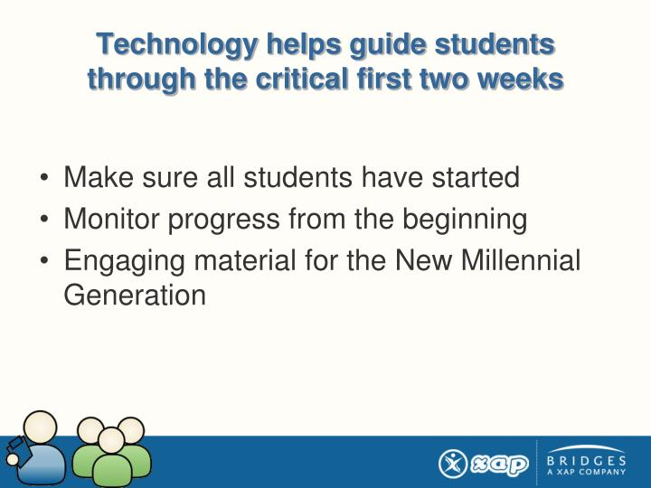 Technology helps guide students through the critical first two weeks
