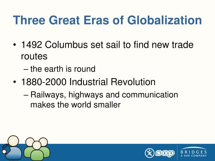 Three Great Eras of Globalization