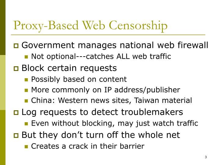 Proxy-Based Web Censorship