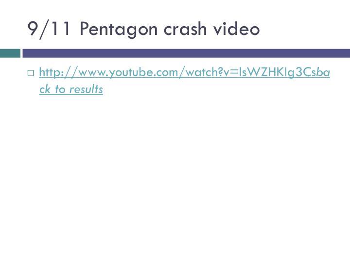 9/11 Pentagon crash video