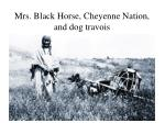 mrs black horse cheyenne nation and dog travois
