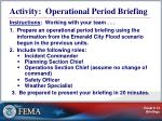 activity operational period briefing
