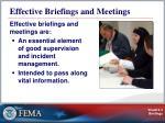 effective briefings and meetings