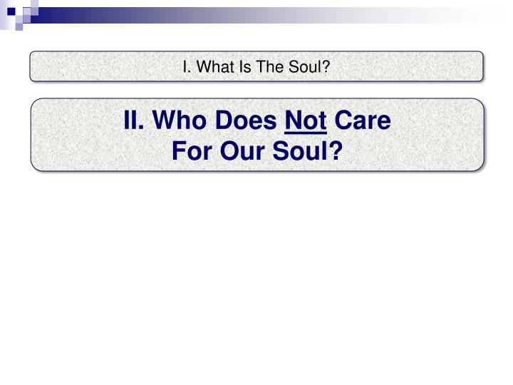 I. What Is The Soul?