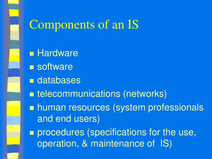 Components of an IS