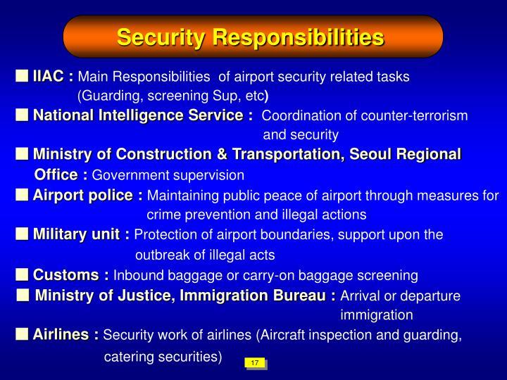 Security Responsibilities